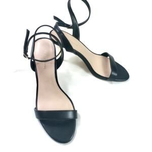 Le Chateau Black With Gold Metal Sling Back Size 8